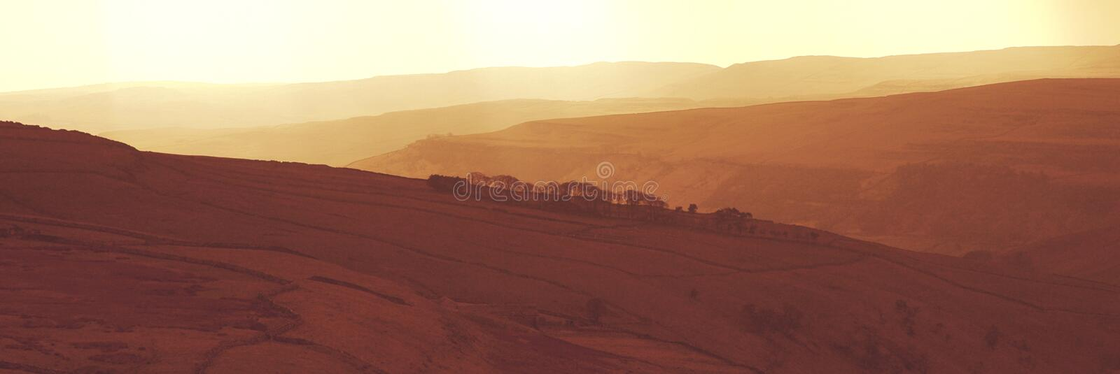 Red Yorkshire Hills royalty free stock photography