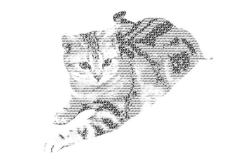 Download Redacte El Gato Mezclado Para Ser Figura Del Gato, Con Estilo De La Tipografía, Isola Stock de ilustración - Ilustración de diseño, feliz: 41902110