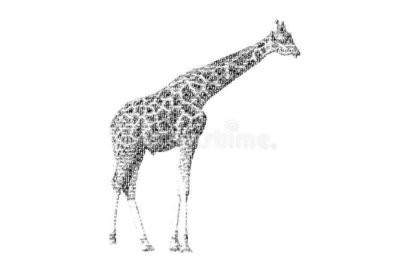 Download Redacte La Jirafa Mezclada Para Ser Figura De La Jirafa, Con Styl De La Tipografía Stock de ilustración - Ilustración de carta, negro: 41902085