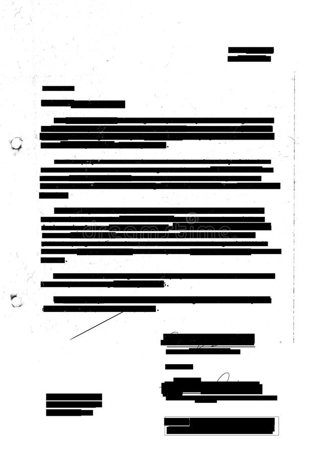 Redacted letter royalty free illustration
