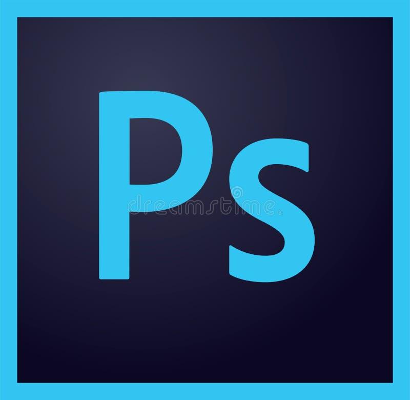 Redactie - het embleem van Adobe Photoshop vector illustratie