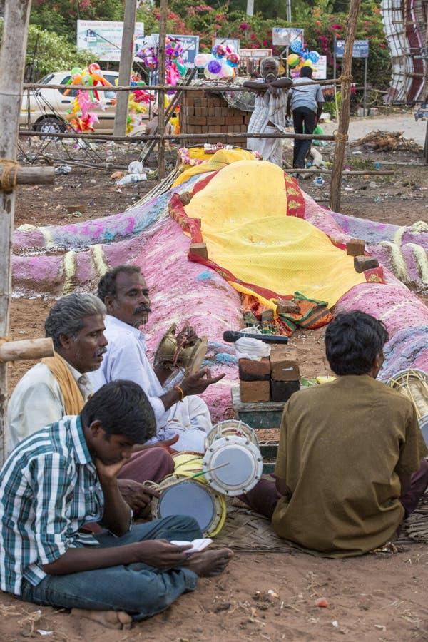 Redactie illustratief beeld Tempelfestival India stock fotografie