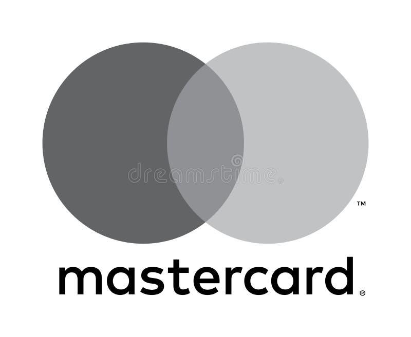 Redactie - Mastercard-embleempictogram stock illustratie
