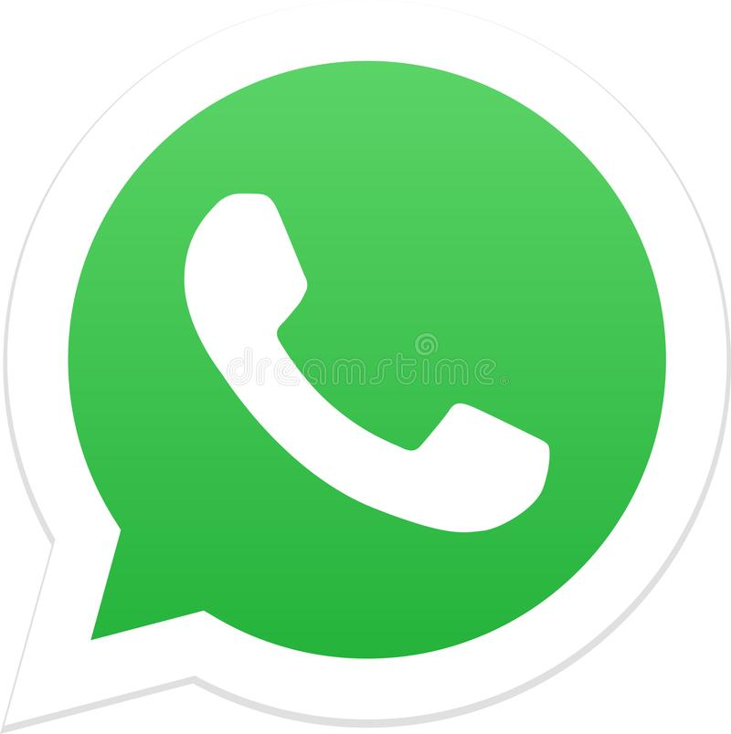 Redactie - Whatsapp-pictogramembleem vector illustratie