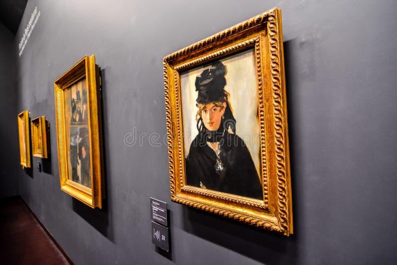 Redactiebeeld van het Romantische die Museum van Orsay in Parijs in datum 25 december 2018 wordt genomen stock illustratie