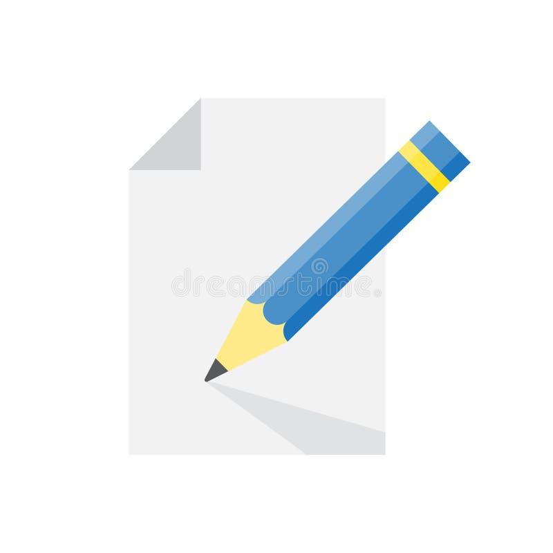 Redaguje dokument szyldową ikonę wektor ilustracji