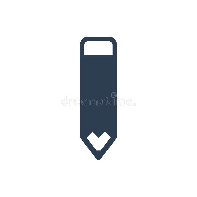 Redaguje ołówkową ikonę royalty ilustracja