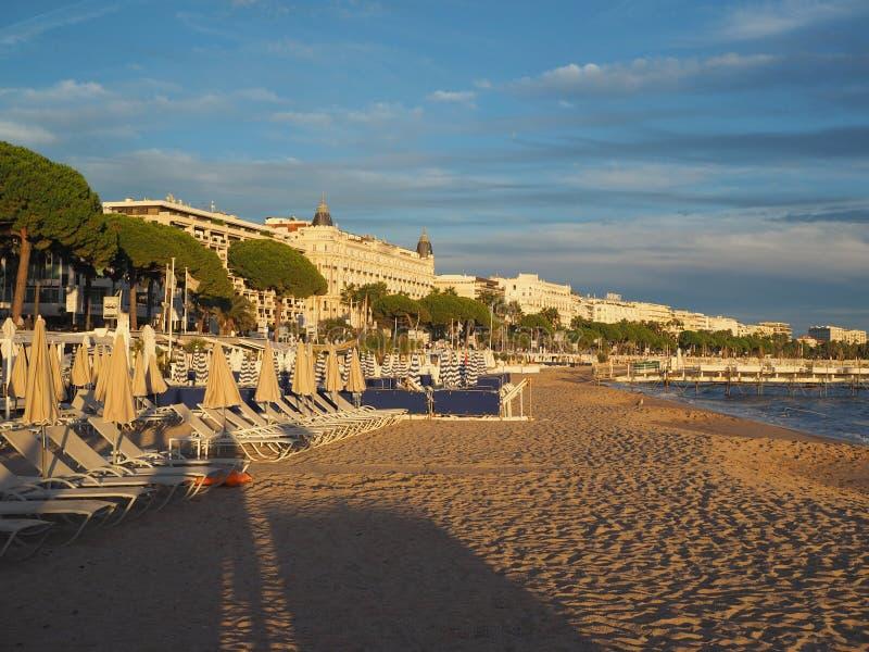 Redakcyjny Deptak De Los angeles Croisette Cannes Francja zdjęcia royalty free