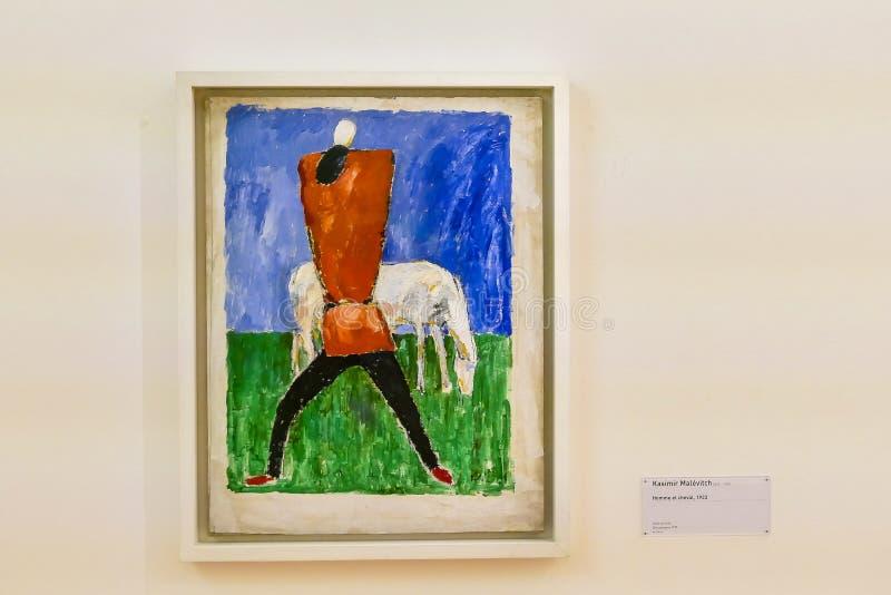 Redakcyjny obrazek Pompidou sztuki współczesnej muzeum w Paris, brać 25 12 2018 royalty ilustracja