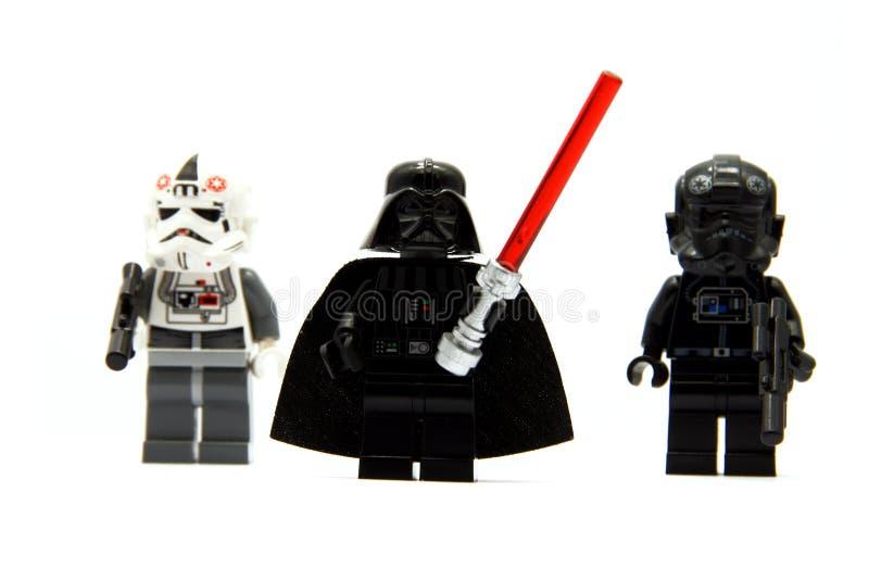 Redaktörs- foto-Darth Vader och hans personliga guard royaltyfria bilder