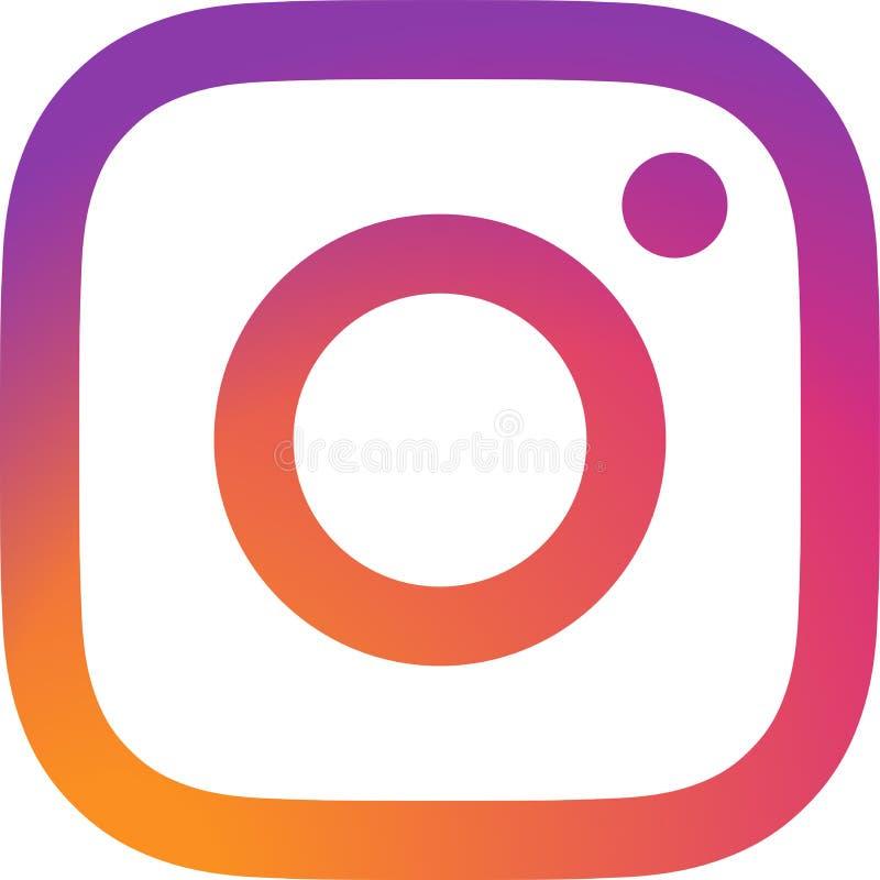Redaktörs- - Instagram logovektor royaltyfri illustrationer