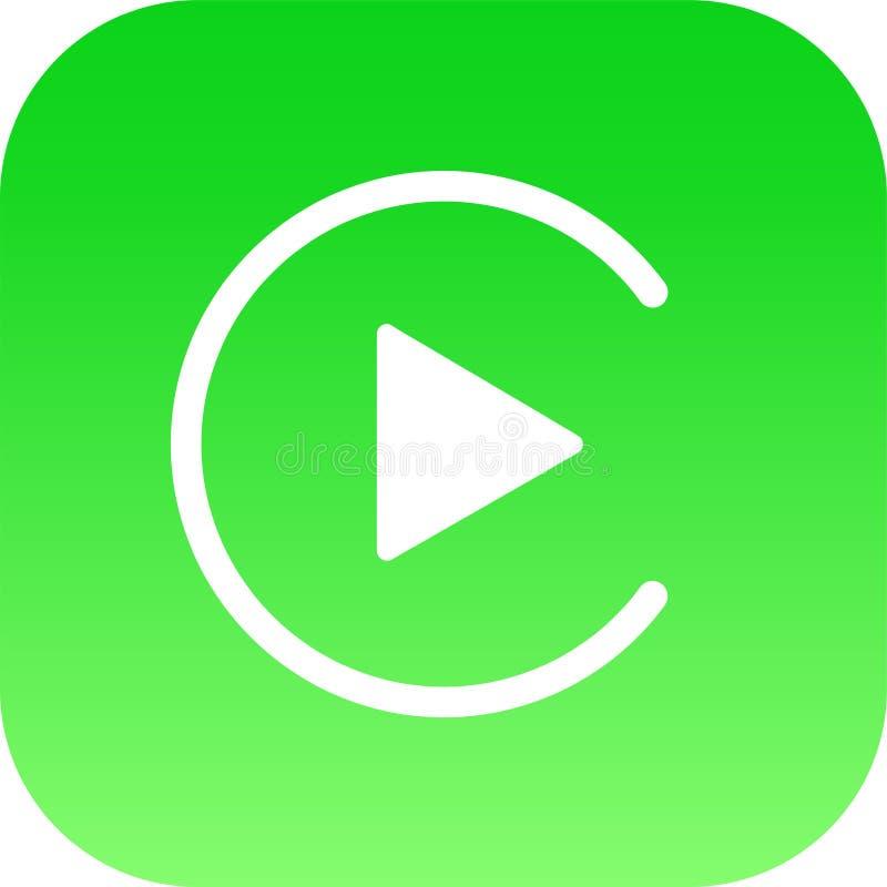Redaktörs- - logo för Apple CarPlay symbolsvektor vektor illustrationer