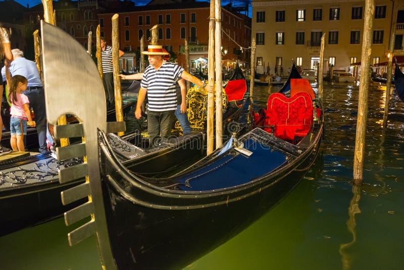 Redaktion Juni 2019 Venedig, Italien Blick auf den Canale Grande von Venedig in einer Nacht stockbilder