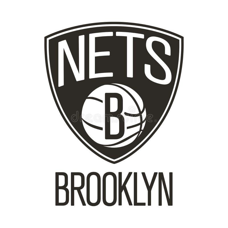 Redaktionell - Brooklyn Nets NBA lizenzfreie abbildung