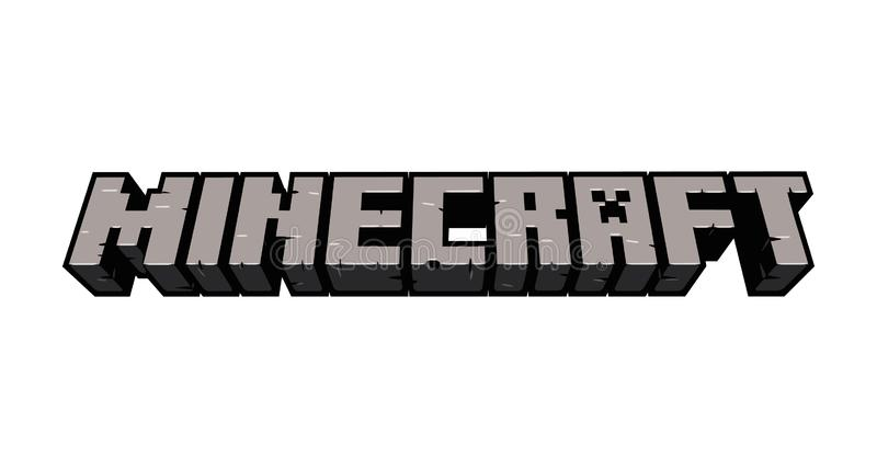 Redaktionelle Vektor-Illustration Minecraft vektor abbildung