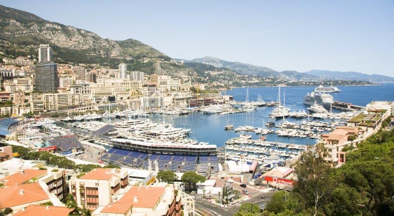 Redaktioneller Hafen Monacos Grandprix lizenzfreie stockfotos