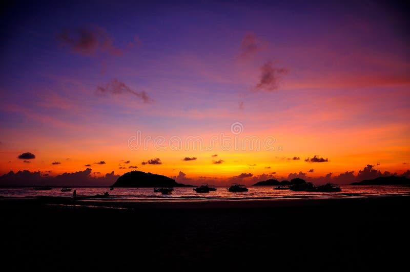 Redang-Insel-Sonnenaufgang lizenzfreie stockbilder