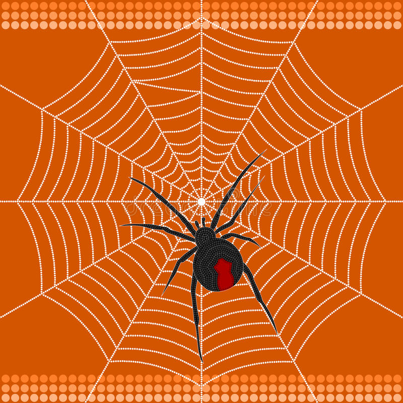 Redback pająk royalty ilustracja