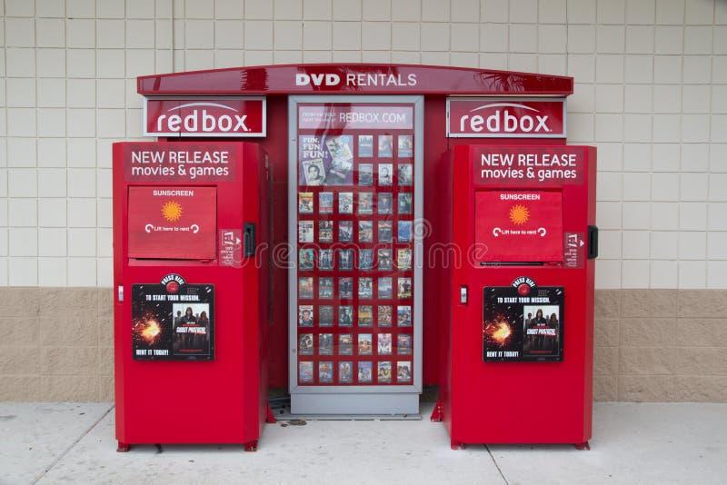 redbox royaltyfri foto