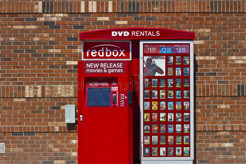 RedBox detaljhandelkiosk I arkivbild