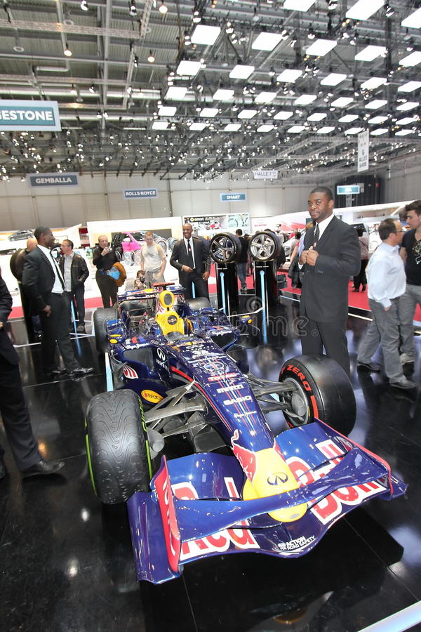 Redbull Formula 1 and bodyguards stock image