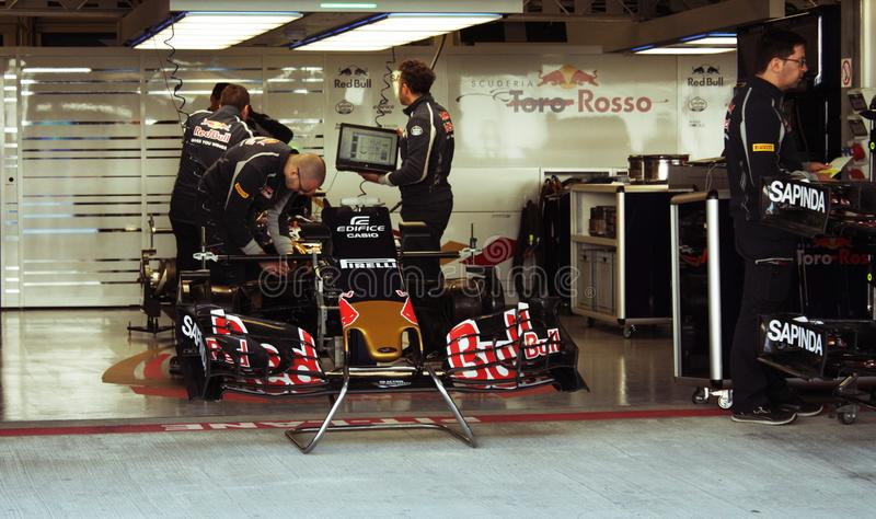 RedBull team Grand Prix F1 royalty free stock photography
