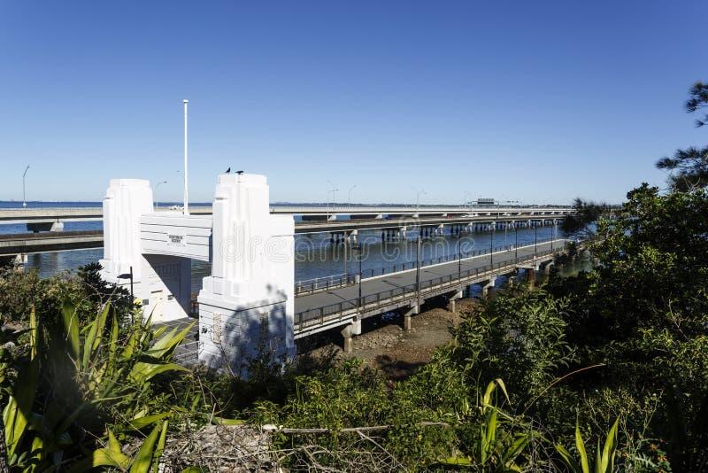 Redcliffe-Halbinsel - drei Brücken stockfotos