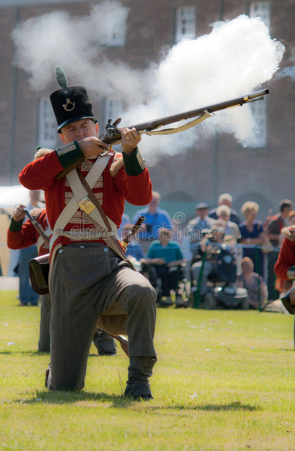 Redcoat Soldier stock images