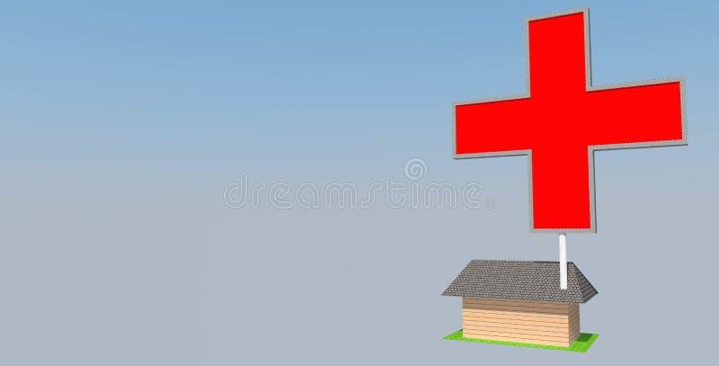 Redcross ilustração royalty free