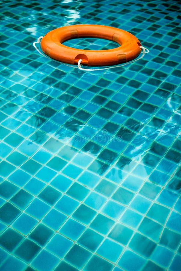 Reddingsboei in pool royalty-vrije stock foto