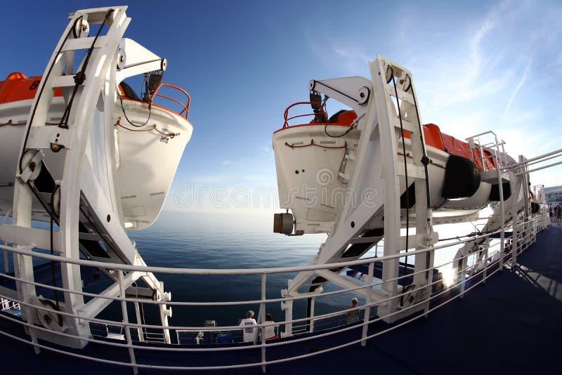 Reddingsboten op een passagiersschip royalty-vrije stock foto