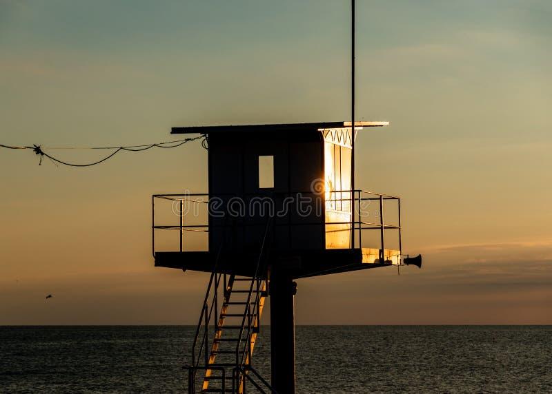 Reddingstoren - Oostzee - Usedom-Eiland stock afbeelding