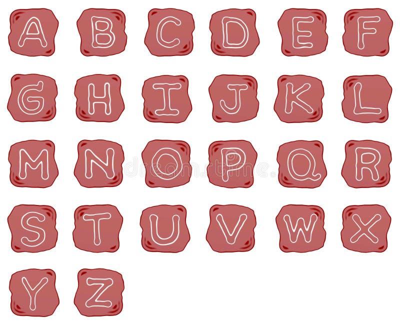 Download A Reddish Brown Stone Of Alphabet Letters Stock Illustration - Illustration: 27251263