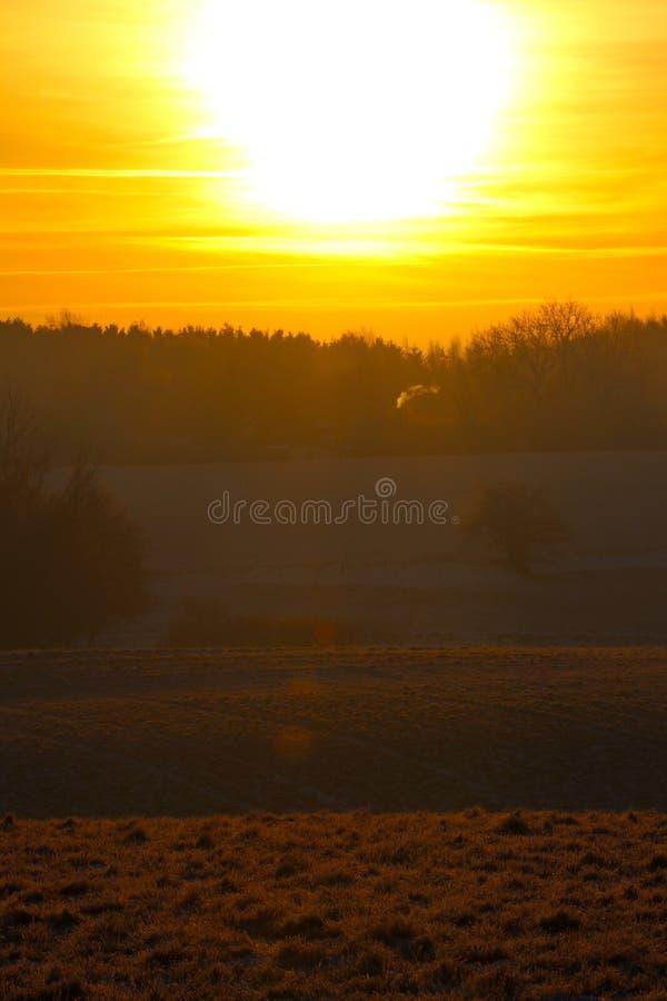 Reddish light at sunrise so beautiful royalty free stock photography