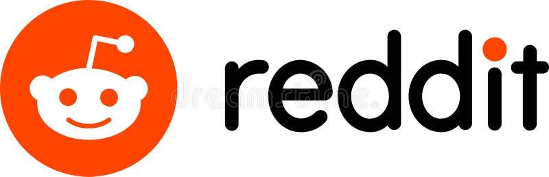Reddit logo wiadomość royalty ilustracja