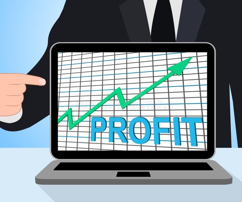 Reddito di ricchezza dei contanti di aumento delle esposizioni del grafico del grafico di profitto illustrazione di stock