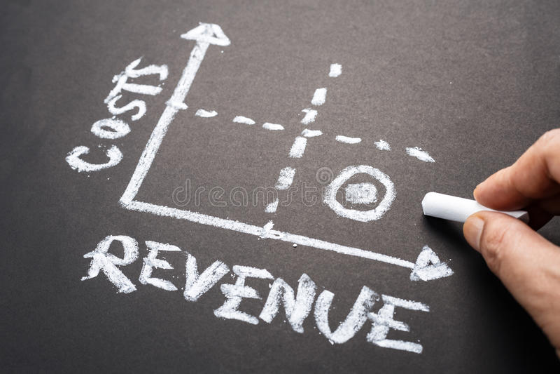 Reddito e di diagramme costi immagine stock