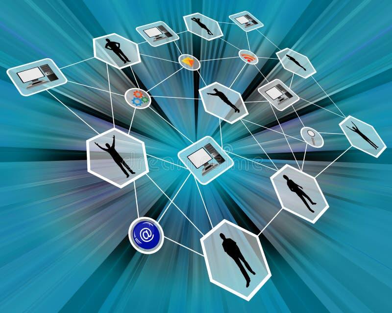 rede ilustração do vetor