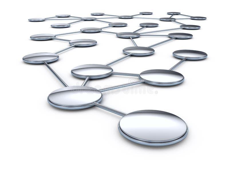 Rede abstrata da conexão ilustração stock