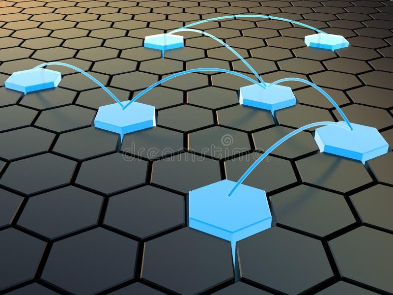 Rede celular ilustração royalty free