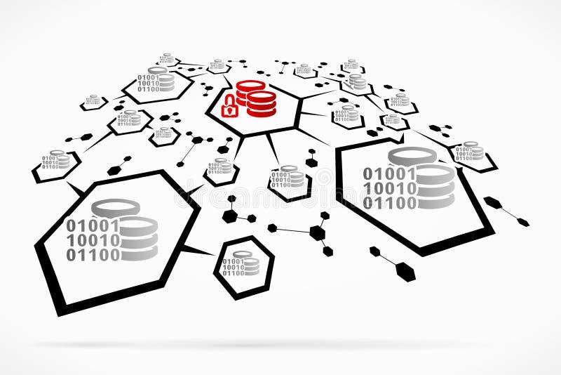 Rede cifrada ilustração royalty free