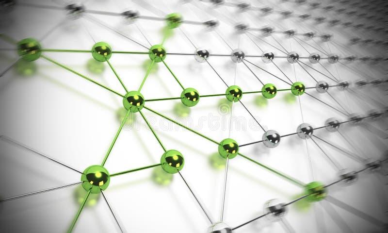 Rede, conectividade - IT&C ilustração stock
