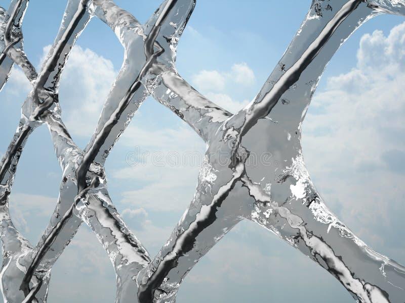 Rede congelada ilustração do vetor
