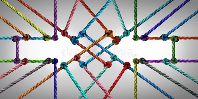 Rede da conexão da seta ilustração stock