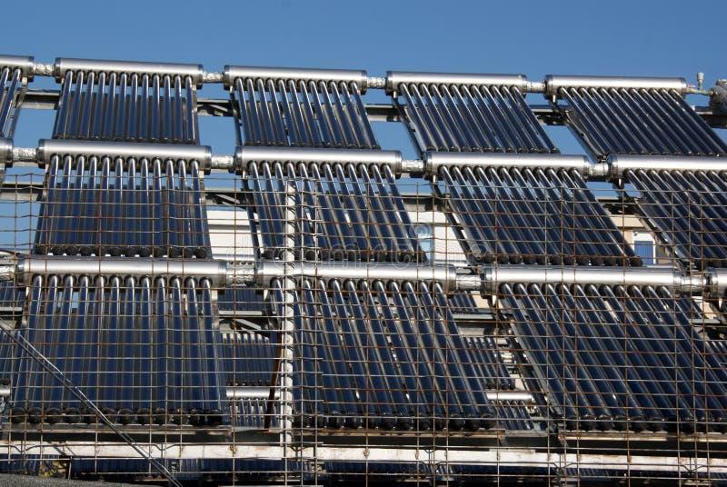 Rede da energia solar fotos de stock