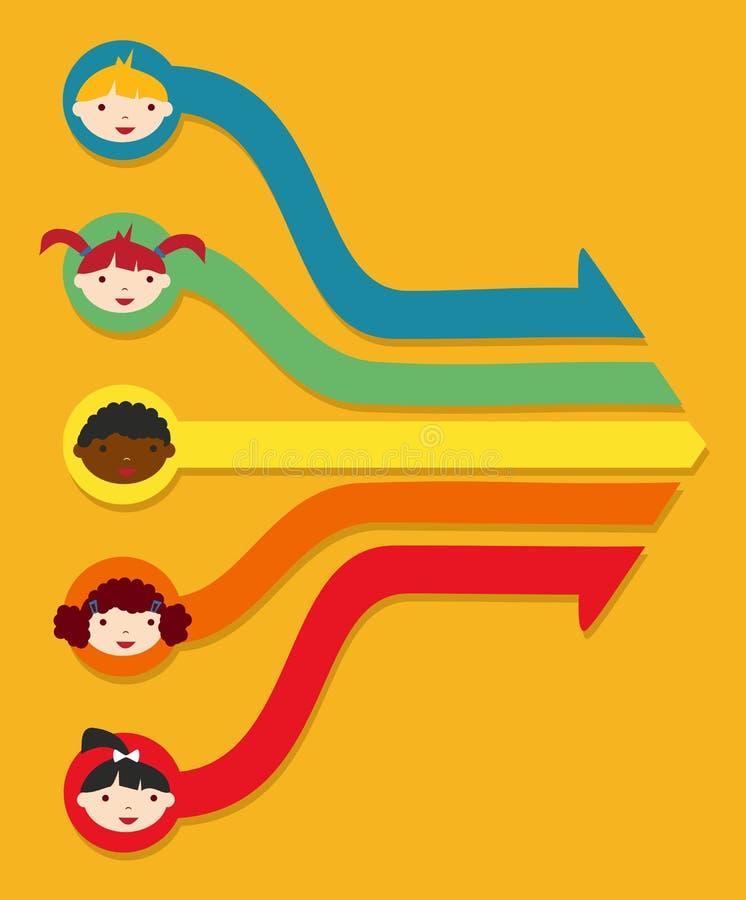Rede da instrução: Diagrama do estudante da escola ilustração stock
