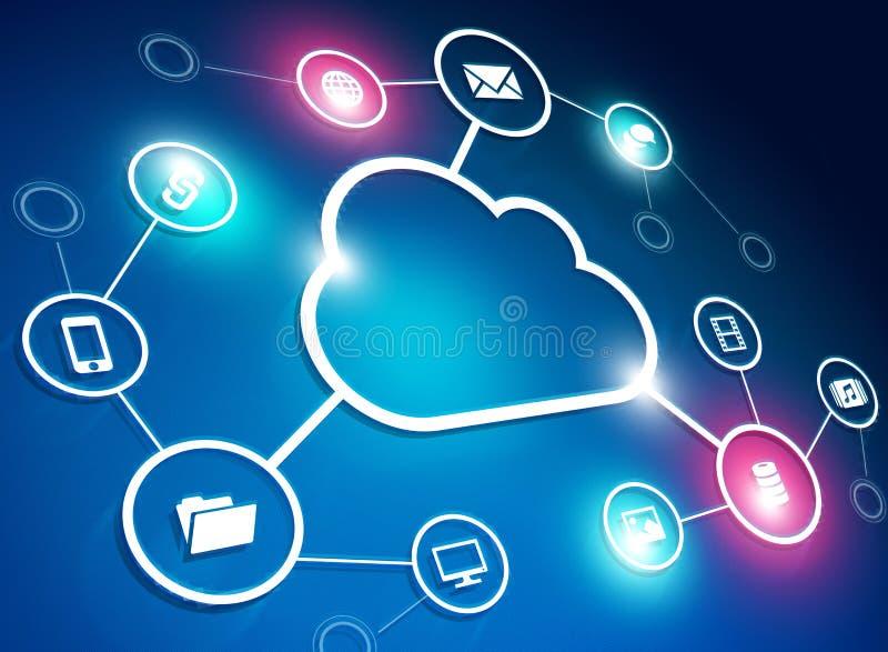 Rede da nuvem ilustração stock