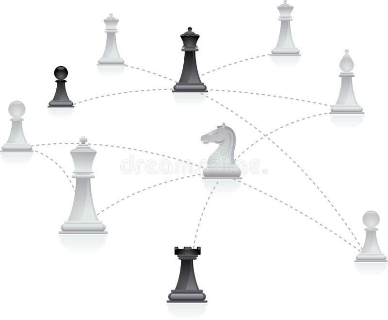 Rede da xadrez ilustração royalty free