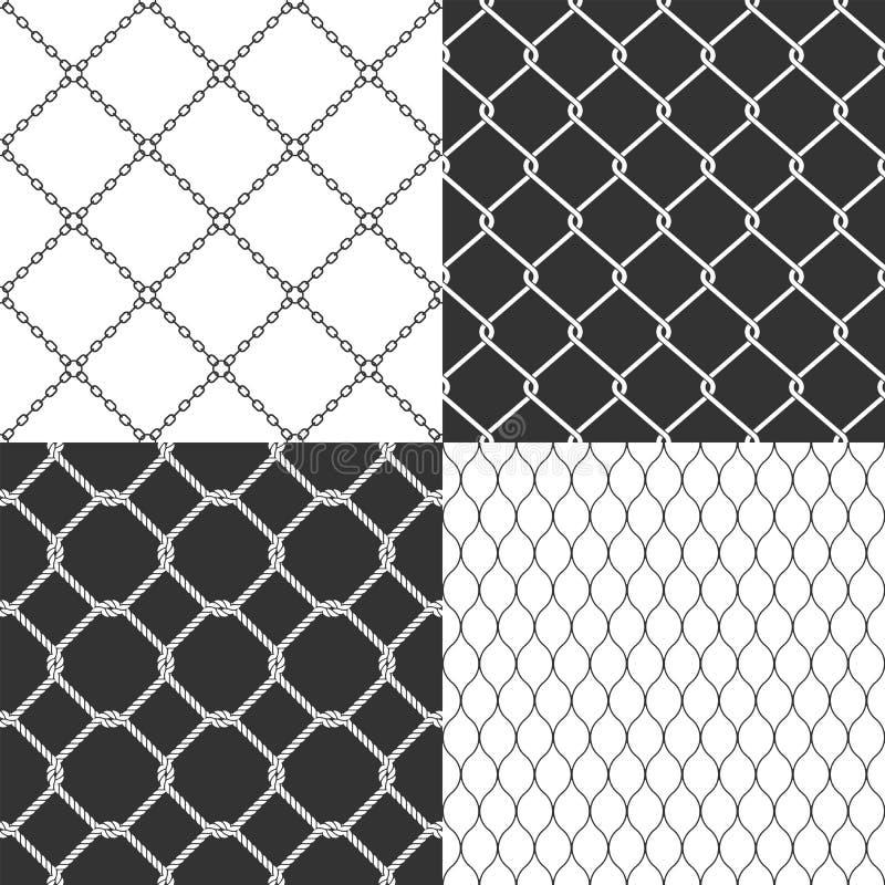 Rede de arame Teste padrão sem emenda do vetor ilustração stock