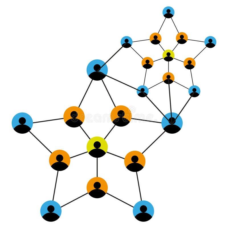 Rede de conexão dos povos ilustração stock